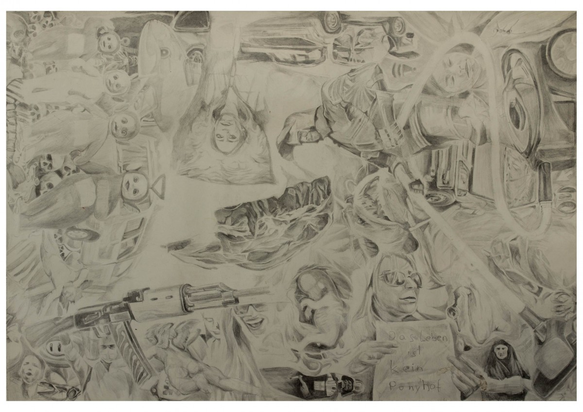 Life's a bitch 2015 pencil on paper 20,24 inch x 13,94 inch